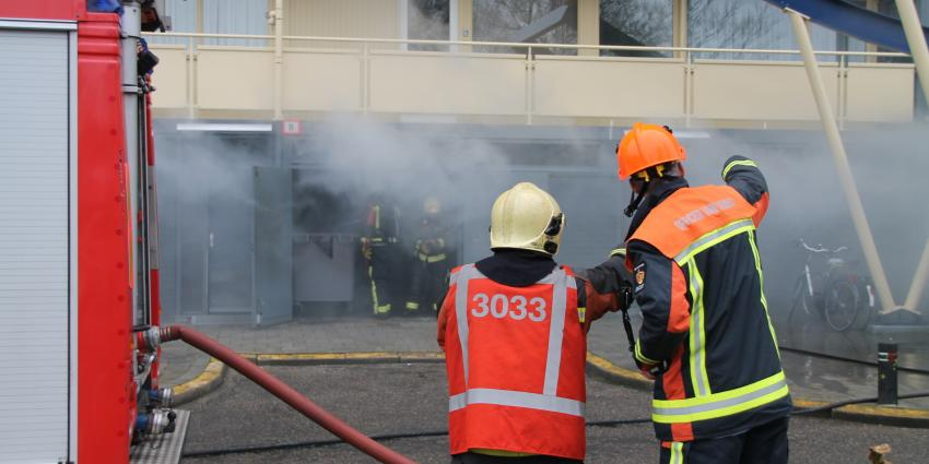 Kelderbrand in flat Delfzijl