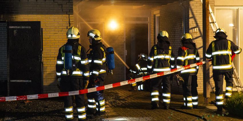 Felle brand verwoest containerruimte appartementencomplex Boxtel