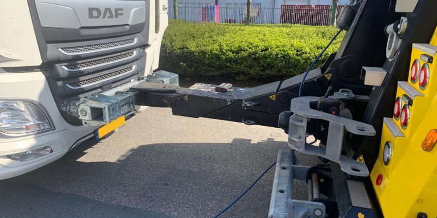 in beslag genomen vrachtwagen