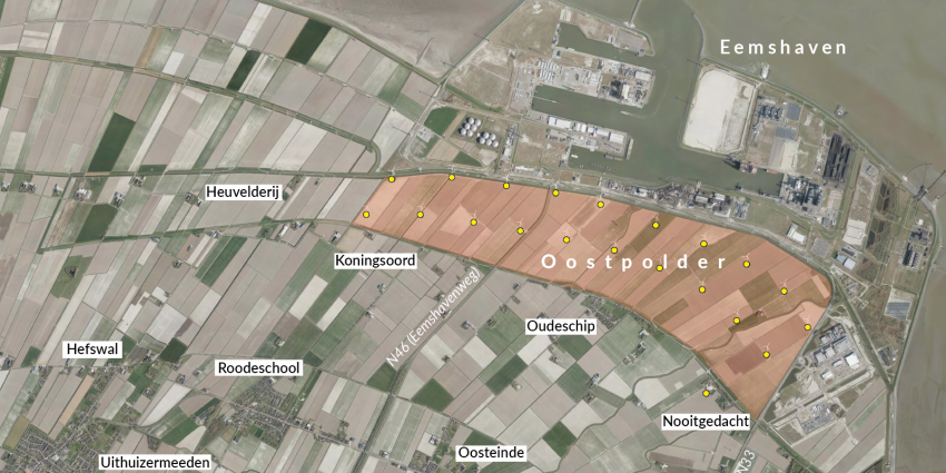 Uitbreiding Eemshaven door gebiedsontwikkeling in Oostpolder