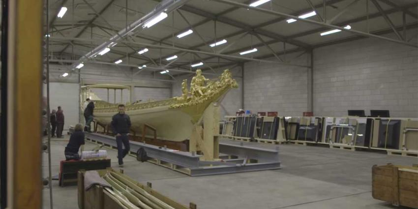 Koningssloep vaarklaar in Scheepvaartmuseum