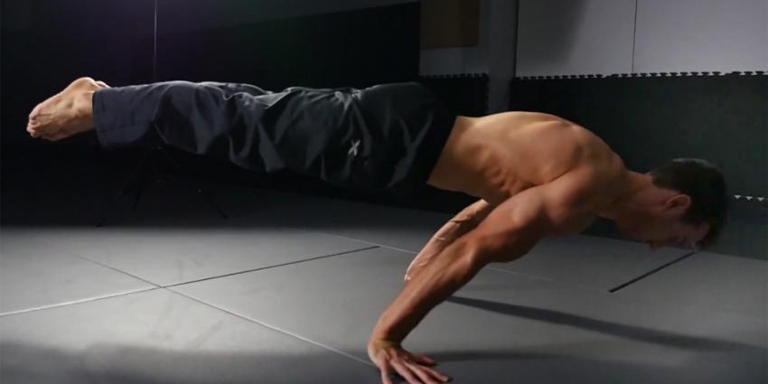Verrassend staaltje spierkracht van breakdancer