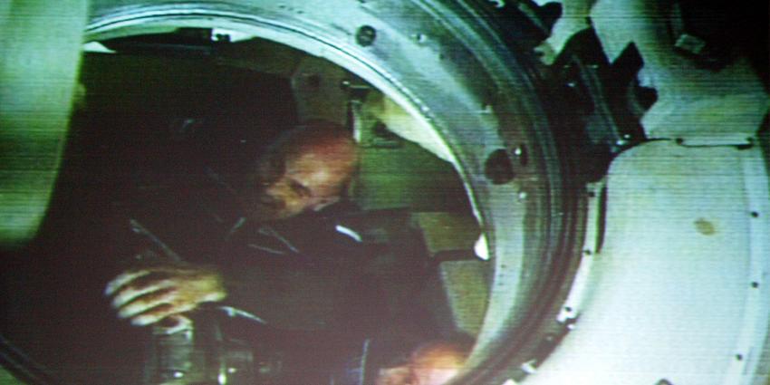 Soyuz-ruimtecapsule van André Kuipers 'landt' in Noordwijk