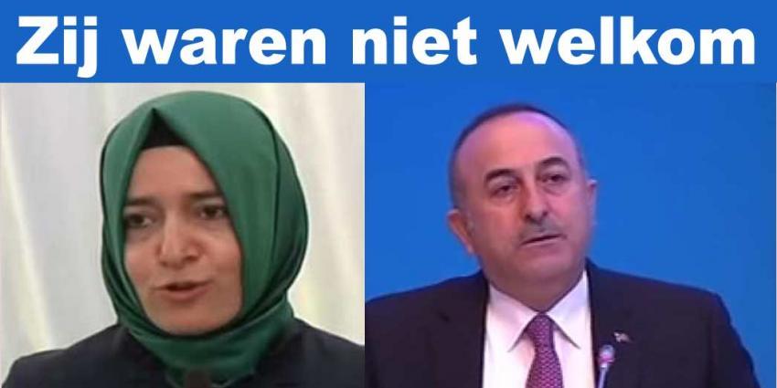 Turkse ministers niet welkom in Nederland
