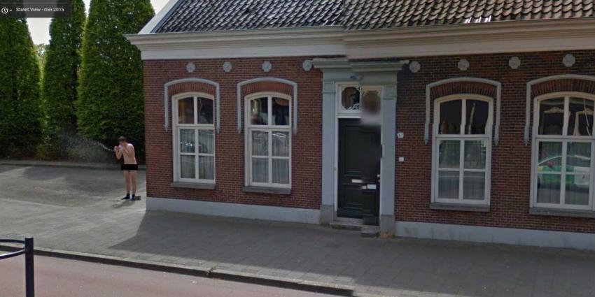 Naakte man op streetview in Groningen vastgelegd