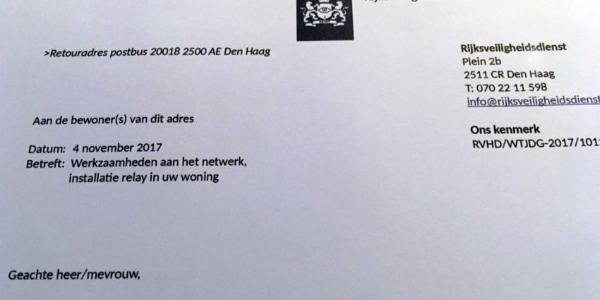 'Nepbrief' Rijksveiligheidsdienst is stunt van Bits of Freedom