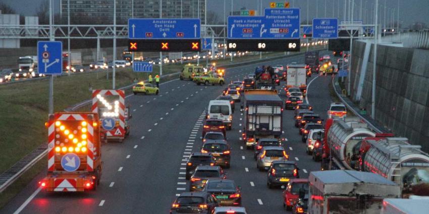 Ongeval A4 zorgt voor verkeersdrukte in ochtendspits