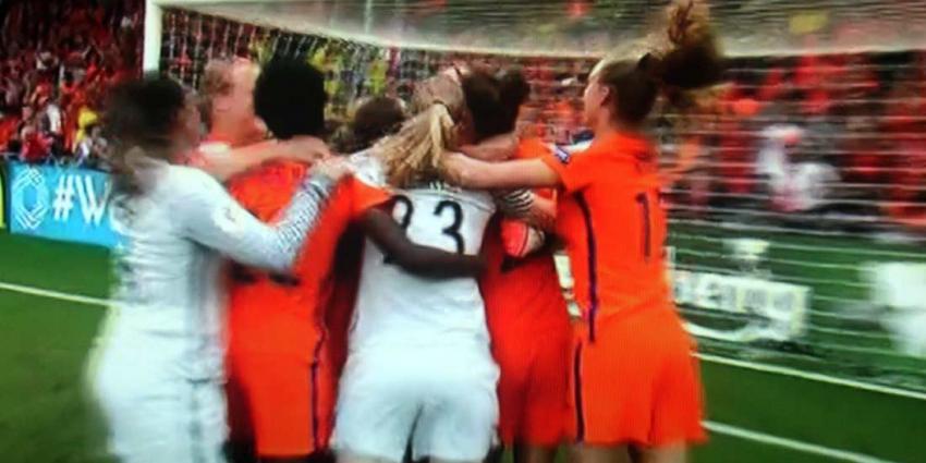 Oranje verslaat Zweden en zijn door naar de halve finales