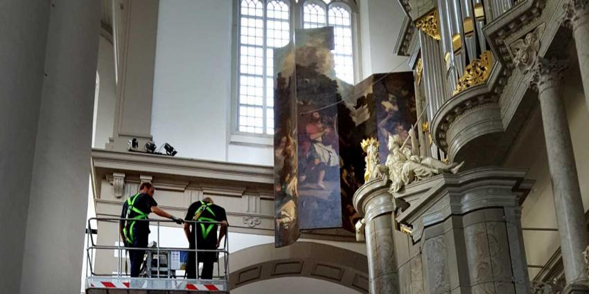 Verhuizing orgelluiken Westerkerk naar Enschede precisieklus