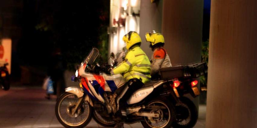 Foto van politie motoren donker   Archief EHF