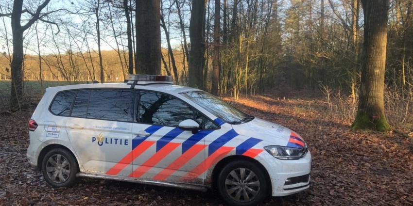 politieauto-bos