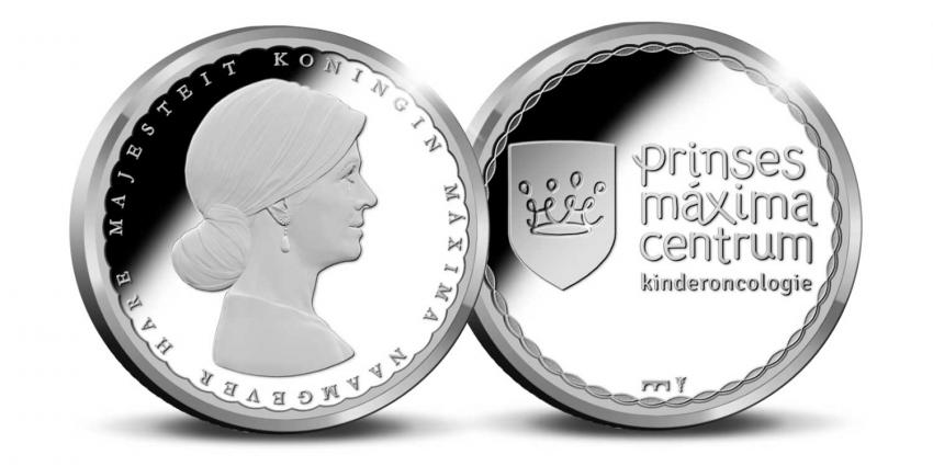 Zilveren Prinses Máxima Centrum Penning voor Koningin Máxima