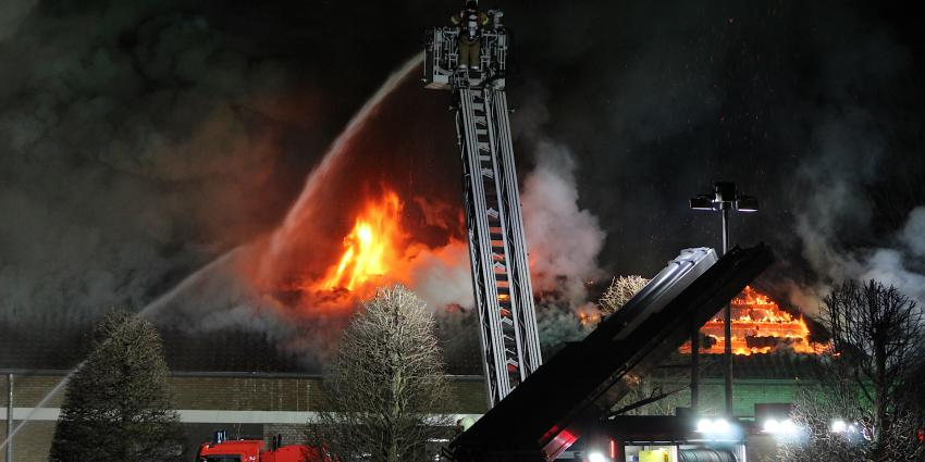 Brand bij De la Salle in Boxtel