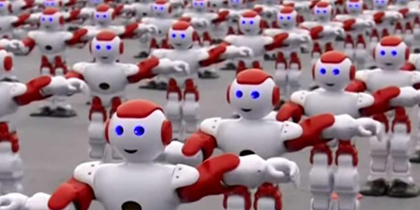 Ruim 1.000 Chinese mini-robots dansen simultaan nieuw record