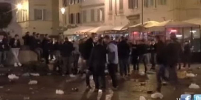 Twee Feyenoordsupporters in Rome mishandeld