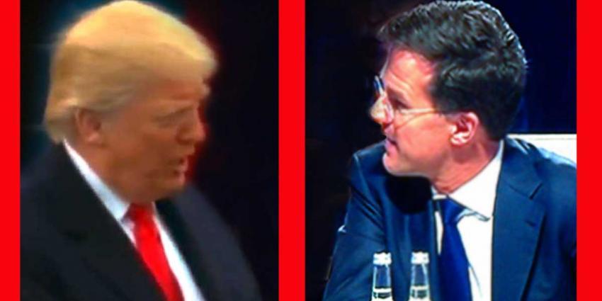 Premier Rutte bij NAVO-bijeenkomst Brussel met president Trump
