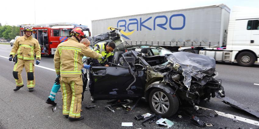 Foto van ongeval op A58