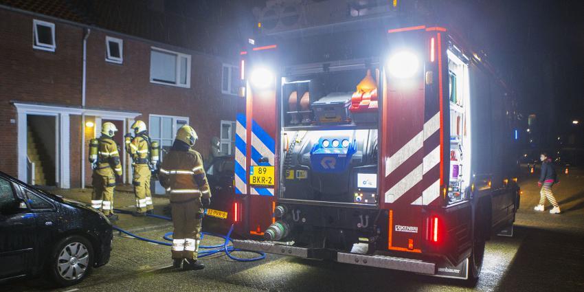 Brandweer bij woning in Boxtel
