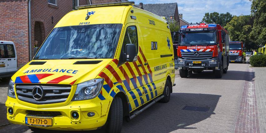 Ambulance en brandweer aanwezig