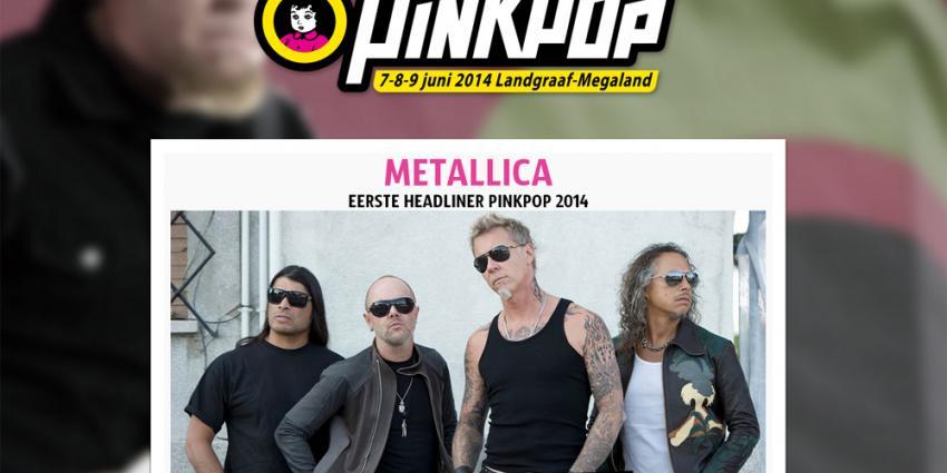 Screenshot site Pinkpop met Mettalica   Pinkpop