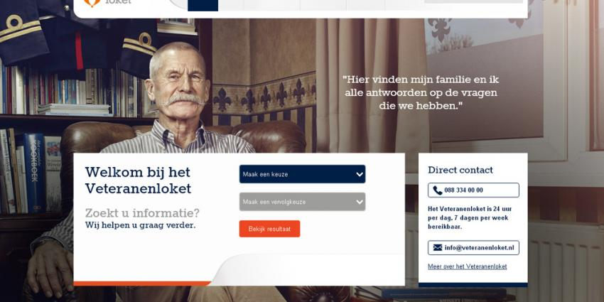 Screenshot van website veteranenloket.nl | veteranenloket.nl