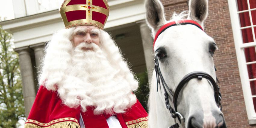 Foto van Sinterklaas op schimmel