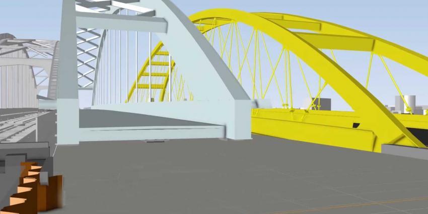 Spoorbrug Utrecht millimeter voor millimeter op zijn plek geschoven