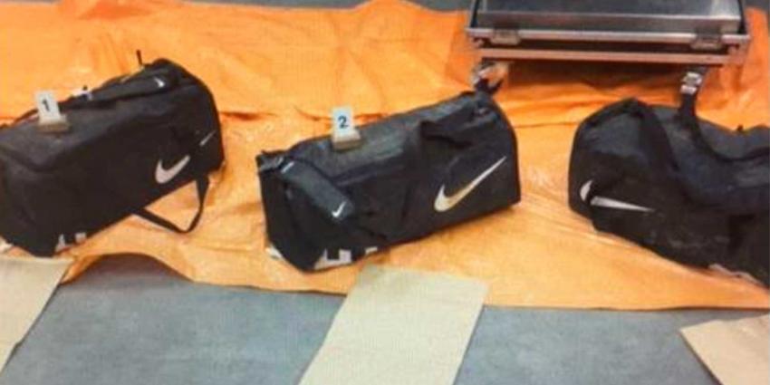 Douane vindt 100 kilo cocaïne in sporttassen