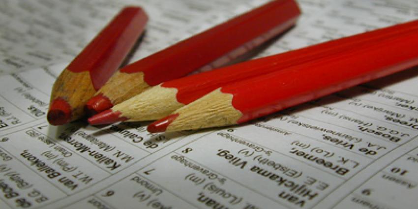 Foto van stemmen potlood rood | Archief EHF