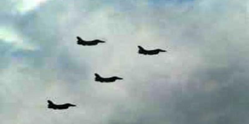 Foto van vier F-16's   Archief FBF