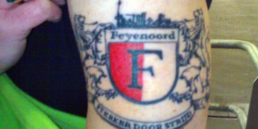 Foto van tatoeage Feyenoord | Archief EHF