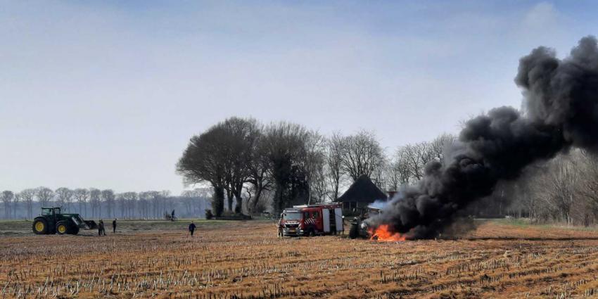 tractor-aanhanger-brand
