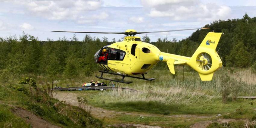 Mountainbiker ernstig gewond in de Broekpolder