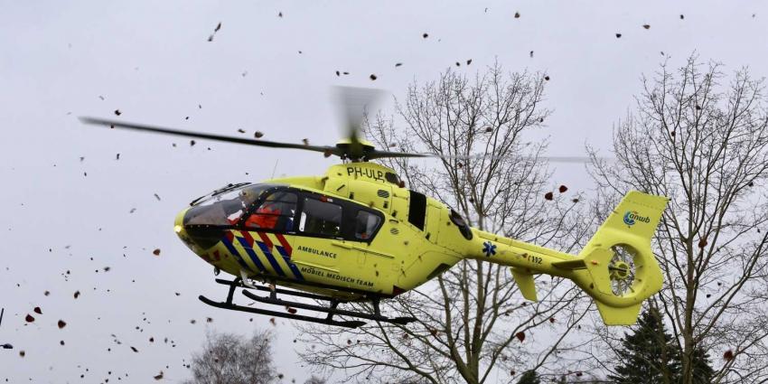 Traumahelikopter trekt veel bekijks in Boxtel
