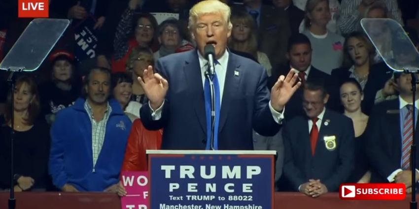 Trump loopt uit op tegenstander Clinton