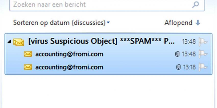 Agressief virus via nep-mail uit naam van Christine le Duc