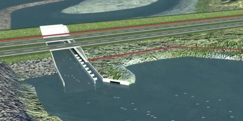 Gat in Afsluitdijk voor vismigratie