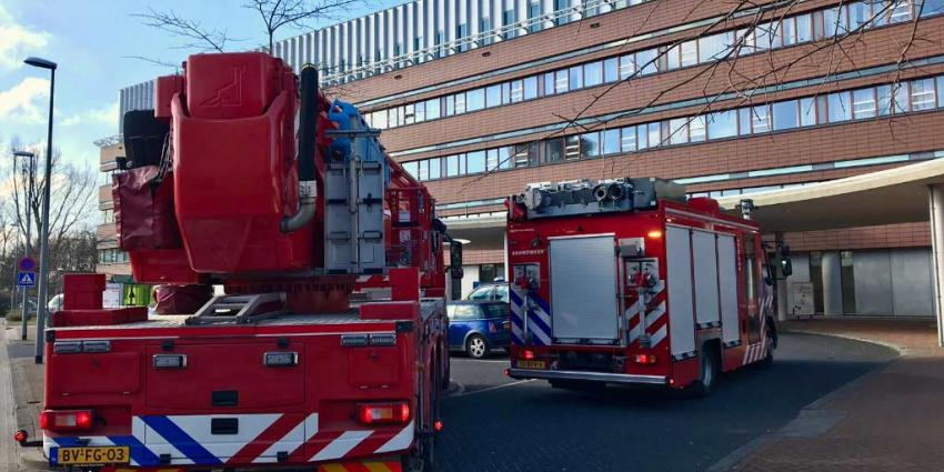 Wasdroger vat vlam in het  Franciscus ziekenhuis