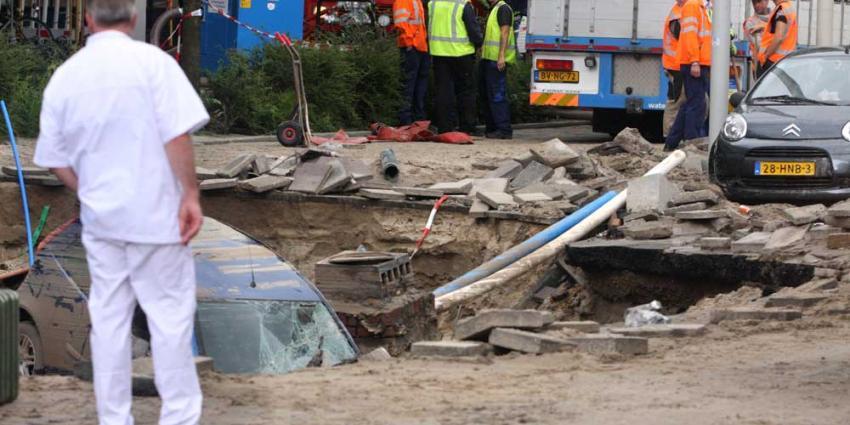 Waternet heeft gesprongen hoofdwaterleiding bij VUmc vervangen