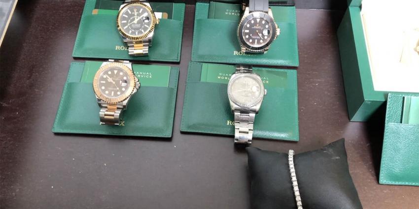 In beslag genomen rolex horloges