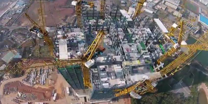 Knap staaltje werk, Chinese wolkenkrabber verrijst in amper 19 dagen