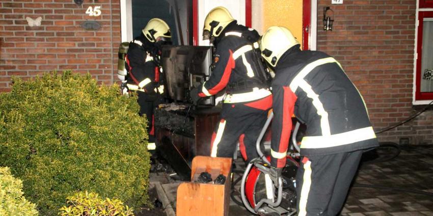 Woonkamer uitgebrand in Hoogeveen