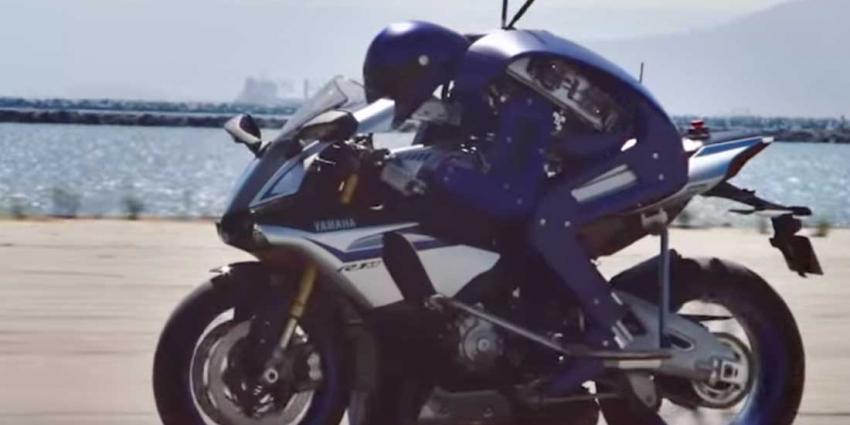 Yamaha-robot bestuurt motorfiets
