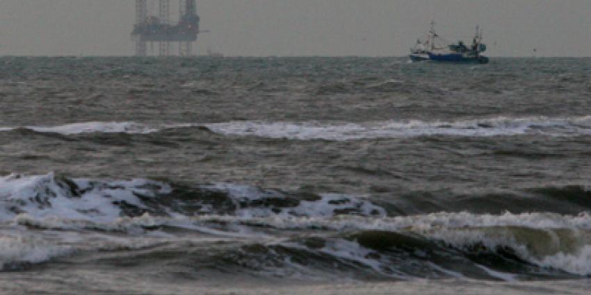 Foto van booreiland in Noordzee   Archief EHF
