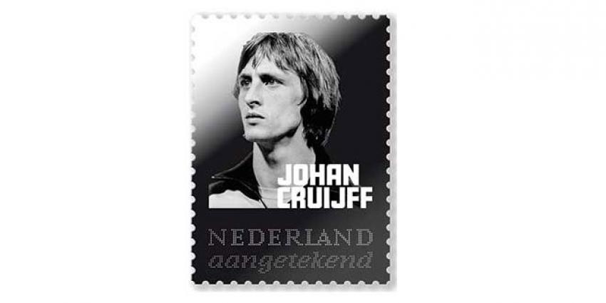 Zilveren postzegel voor voetbalicoon Johan Cruijff