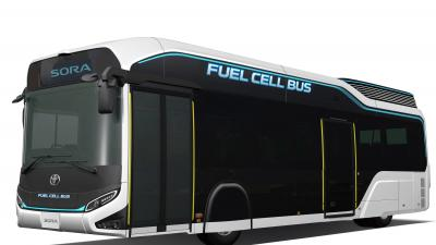Toyota onthult concept waterstofbus Sora