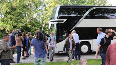 Foto van kinderen terug in Veendam na ongeval
