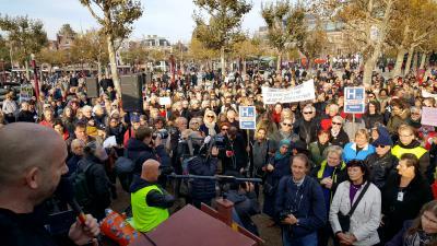 Protest tegen faillissementen ziekenhuizen