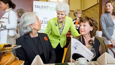 Foto van IMF Topvrouw Christine Lagarde