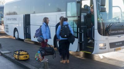 Aankomst studenten in Groningen